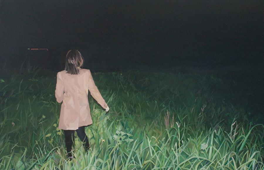 Ayşegül Karakaş, Yer Değiştirme 2, tuval üzerine yağlıboya, 2012.