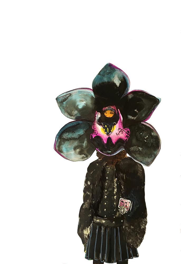 Saliha Yılmaz - Siyah Orkideli Kadın